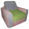 Chair Sleeper in Pastel Chenille