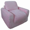 Chair Sleeper in Pink Chenille