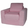 Chair Sleeper in Pink Microsuede