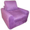 Chair Sleeper in Purple Microsuede