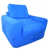Chair Sleeper in Royal Blue Microsuede