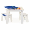 Chalk Table & Bench Set - Cobalt