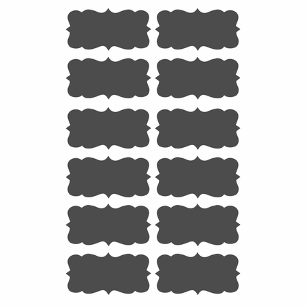 Chalkboard Labels Wall Decal - Set of 12