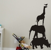 Chalkboard Safari Animals Wall Decal