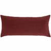 Chambray Linen Double Boudoir Pillow in Brick