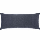 Chambray Linen Double Boudoir Pillow in Ink