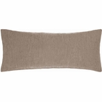 Chambray Linen Double Boudoir Pillow in Sable