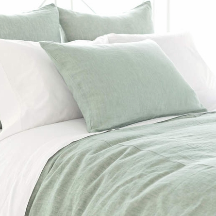 Chambray Linen Ocean Duvet Cover By Pine Cone Hill