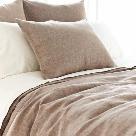 Chambray Linen Sable Duvet Cover