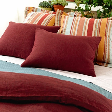 Chambray Linen Standard Sham in Brick