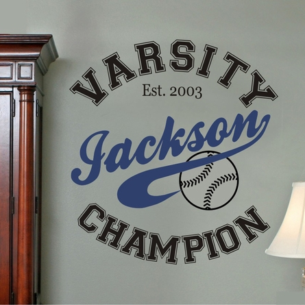 Champion Personalized Wall Decal