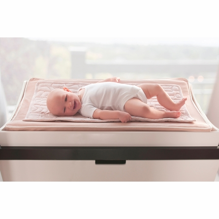 Changing Pad Cover and Topper in Blush