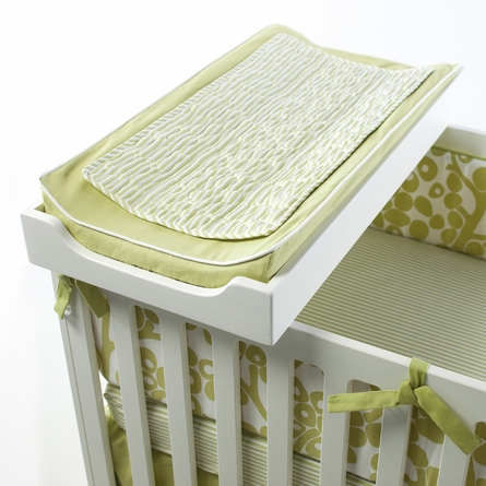 Changing Pad Cover and Topper in Spring Green