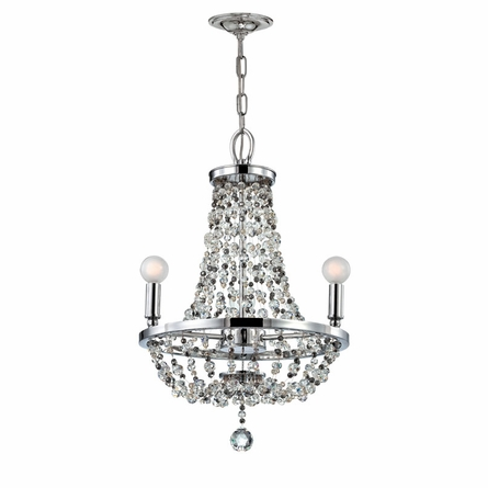 Channing Chrome Chandelier with Beading