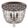 Channing Three Light Bronze Flush Mount