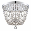 Channing Three Light Chrome Flush Mount