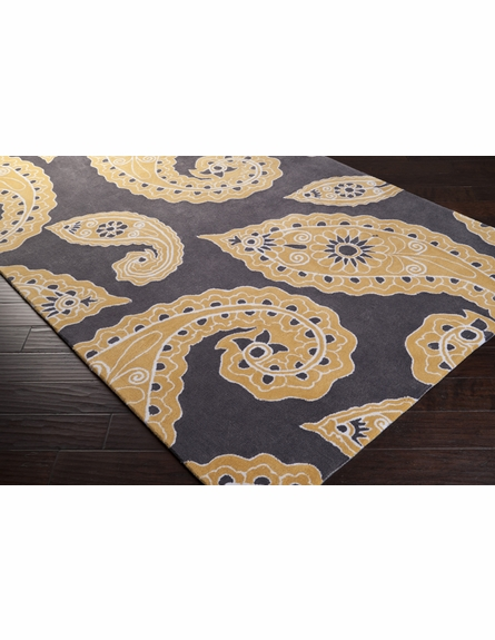 Charcoal and Gray Paisley Hudson Park Rug