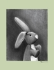 Charcoal Bunny - Sage Canvas Wall Art