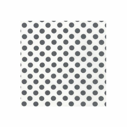 Charcoal Dot Crib Sheet
