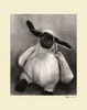 Charcoal Lamb - Cream Canvas Wall Art