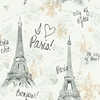 Charcoal Paris Sketch Wallpaper