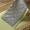 Charcoal Triangle Quilted Crib Comforter
