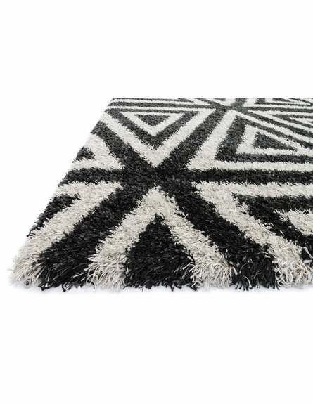 Charcoal Triangles Cosma Shag Rug