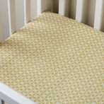Charleston Dijon Yellow Crib Sheet