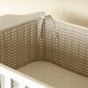 Charleston Grey Crib Bumper