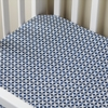 Charleston Indigo Crib Sheet
