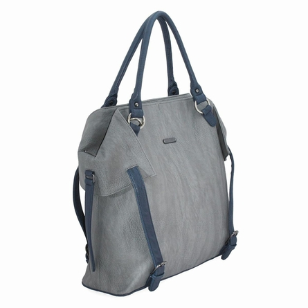 Charlie Diaper Bag - Gray and Navy