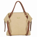 Charlie Diaper Bag - Sand and Cinnamon