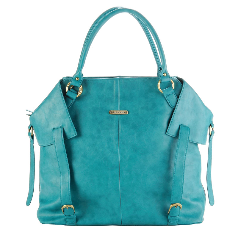 charlie diaper bag teal by timi leslie. Black Bedroom Furniture Sets. Home Design Ideas