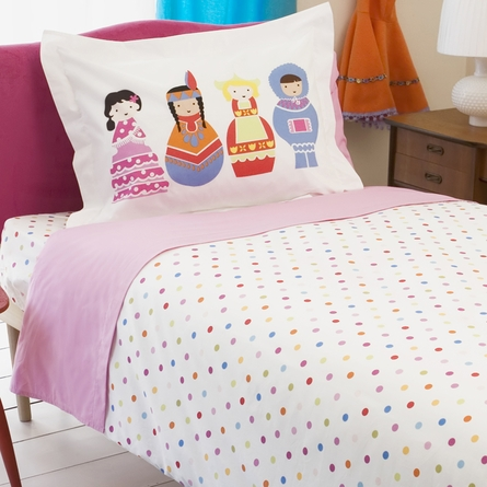 Charming Pink Twin Sheet Set