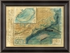 Chart of the Gulf Stream Framed Wall Art