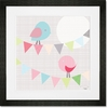 Chatty Birds Framed Art Print