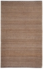 Checkered Natural Jute Rug in Cocoa