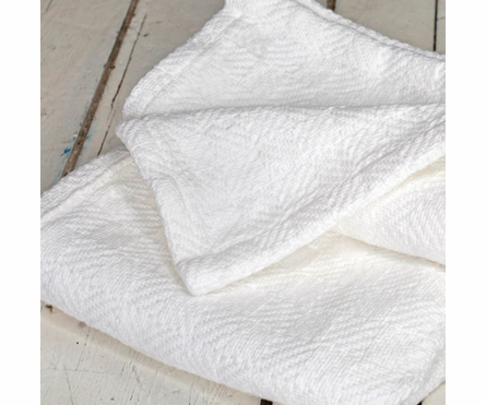 Checkmate Baby Blanket - White