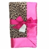 Cheetah and Hot Pink Baby Blanket
