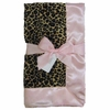 Cheetah and Light Pink Baby Blanket