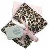 Cheetah and Light Pink Burp Cloth Set