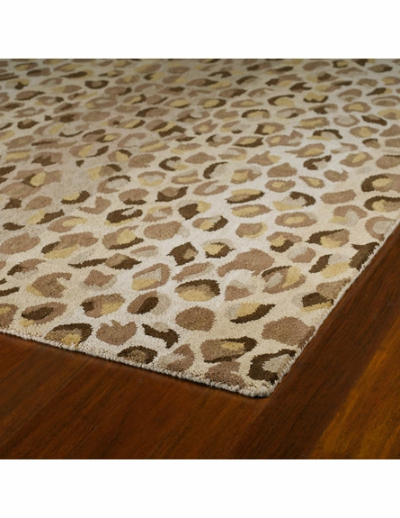 Cheetah Print Rug in Mocha