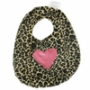 Cheetah with Hot Pink Heart Bib