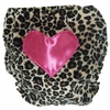 Cheetah with Hot Pink Heart Diaper Cover