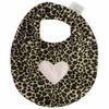 Cheetah with Light Pink Heart Bib