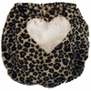 Cheetah with Light Pink Heart Diaper Cover