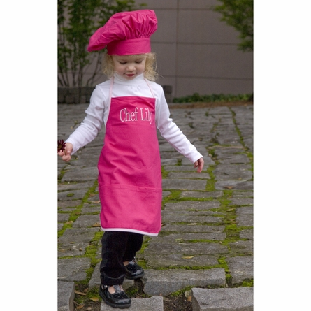 Chef Apron and Hat Set in Hot Pink