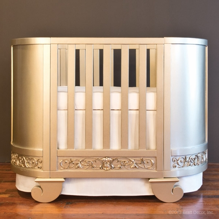 Chelsea Darling Convertible Crib Cradle Antique Silver
