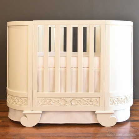 Chelsea Darling Convertible Crib Cradle White