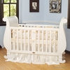 Chelsea Sleigh Crib in White